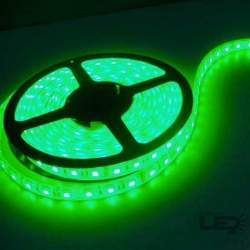 Tira LED 5mts 12v 60 leds/m IP20 SMD5050 verde