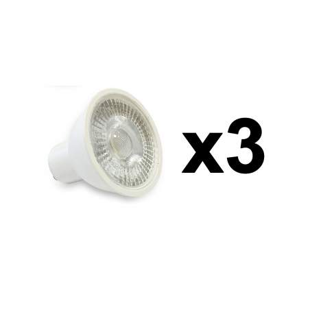 PACK 3 UNID BOMBILLAS LED GU10