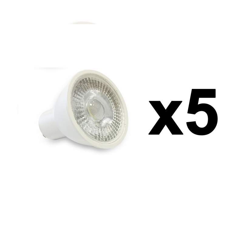 PACK 5 UNID BOMBILLAS LED GU10