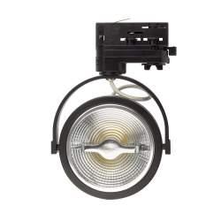Foco LED Carril Cree AR111 15W Regulable Negro para Carril Trifásico