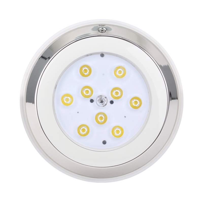 Foco LED Superficie 9W Inox para Piscina