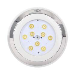 Foco Piscina LED Superficie RGBW 12W Inox