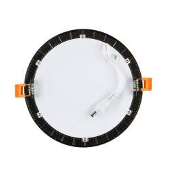 Downlight led redondo negro 12w