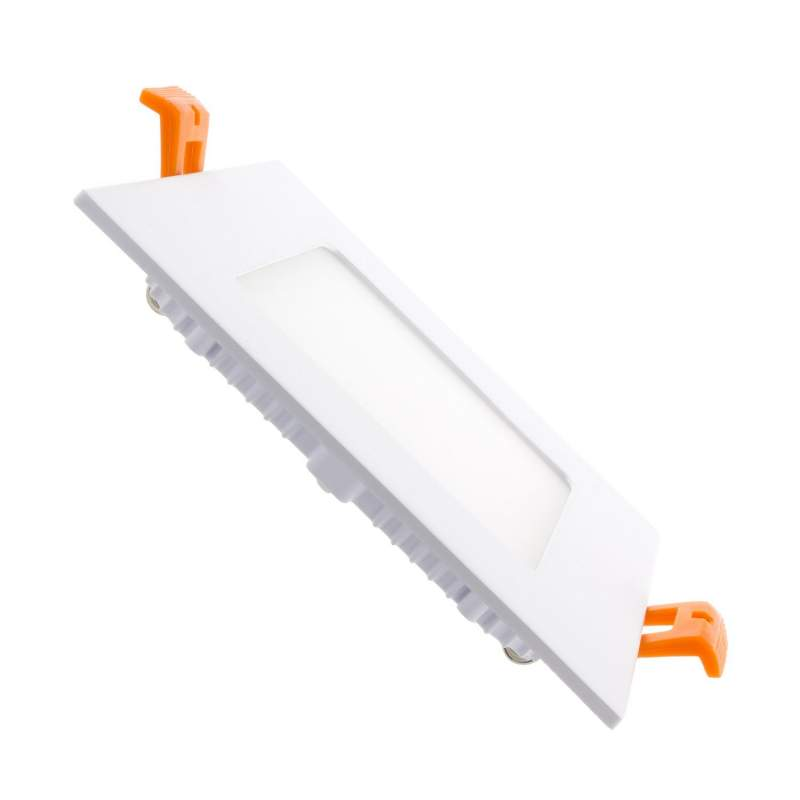 Downlight led plano 6W cuadrado blanco