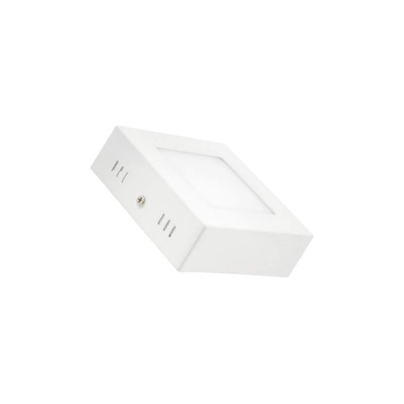 Plafón LED superficie 6W cuadrado blanco