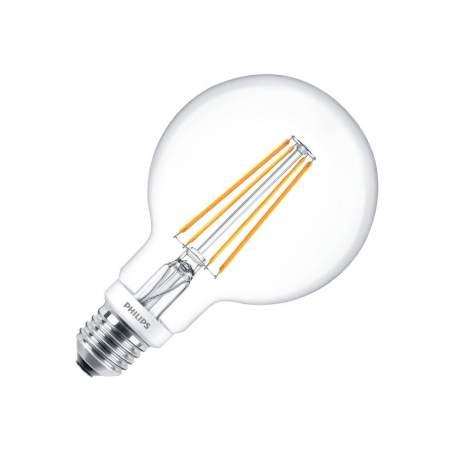 Bombilla LED Vintage G93 Philips Regulable Filamento 8W
