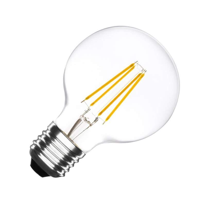 Bombilla LED Vintage E27 Regulable Filamento G80 6W