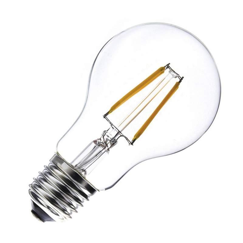 Bombilla LED E27 Regulable Filamento A60 5,5W