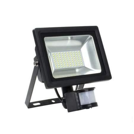 Foco Proyector LED SMD con Detector de movimiento 50W 120lm/W