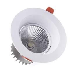 Foco led empotrable COB 20W Circular Blanco con Chip CREE-COB