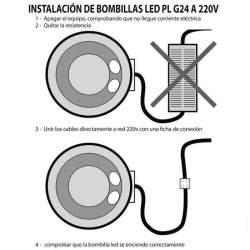 Bombilla led P-G24 12W