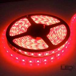 Tira LED 5mts 12v 60 leds/m IP65 SMD5050 rojo