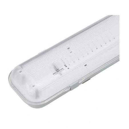 Pantalla estanca para 2 tubos led 60cm conexion 1 ó 2 laterales