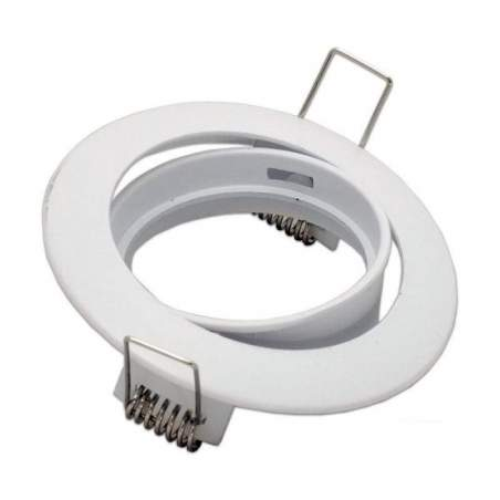 Aro downlight basculante blanco