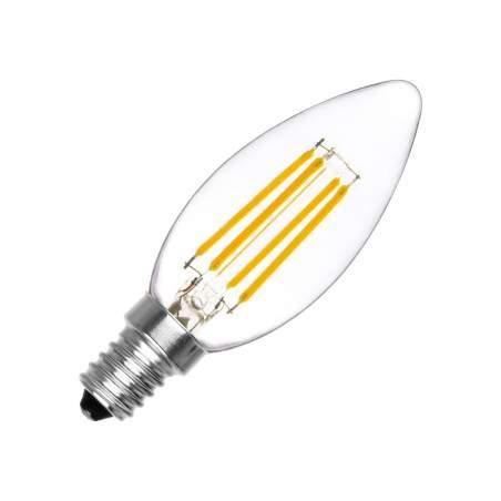 Bombilla LED Vintage E14 Vela Regulable Filamento 4W