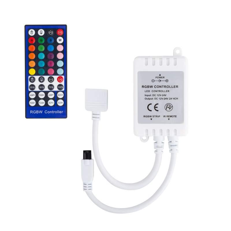 Controlador LED RGBW Control Remoto IR 40 botones Tira LED 12/24V
