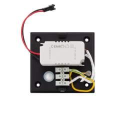 Aplique de Pared LED 12W AFRODITA Negro Iluminación Doble Cara