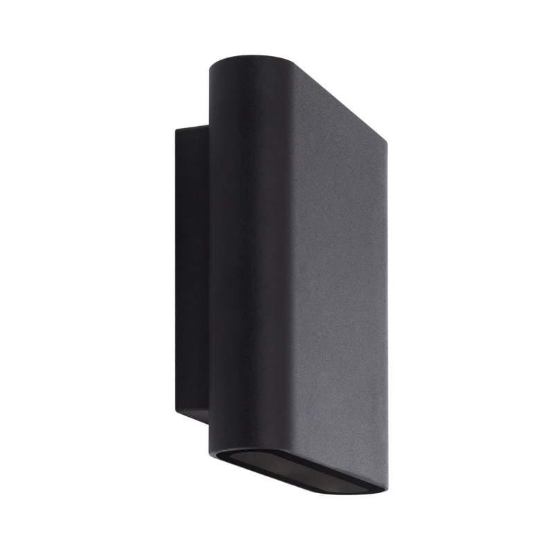 Aplique de Pared LED 12W Negro Iluminación Doble Cara