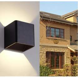 APLIQUE PARED MERCURY NEGRO 6W ILUMINACION DOBLE CARA