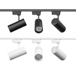 Foco LED carril monofasico PACIFIC 30W Epistar blanco