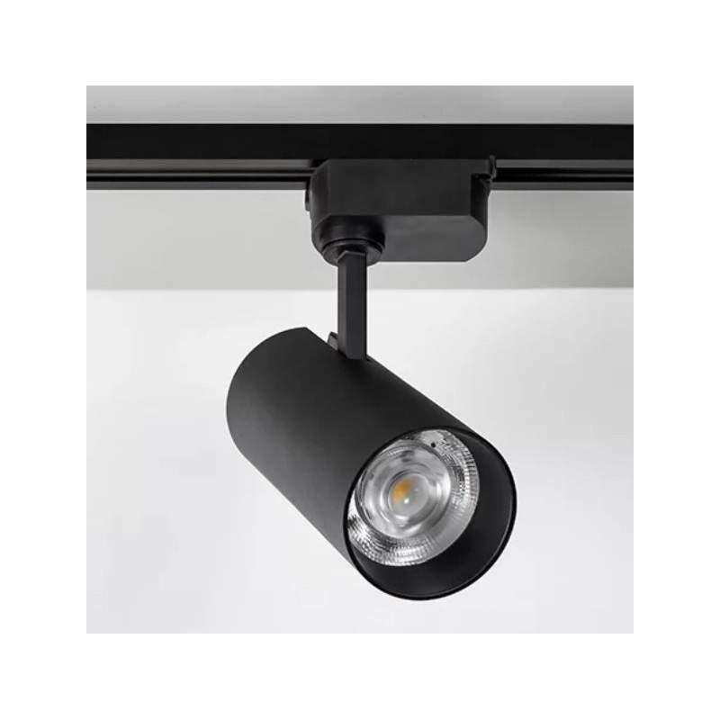 Foco LED carril monofasico PACIFIC 30W Epistar negro