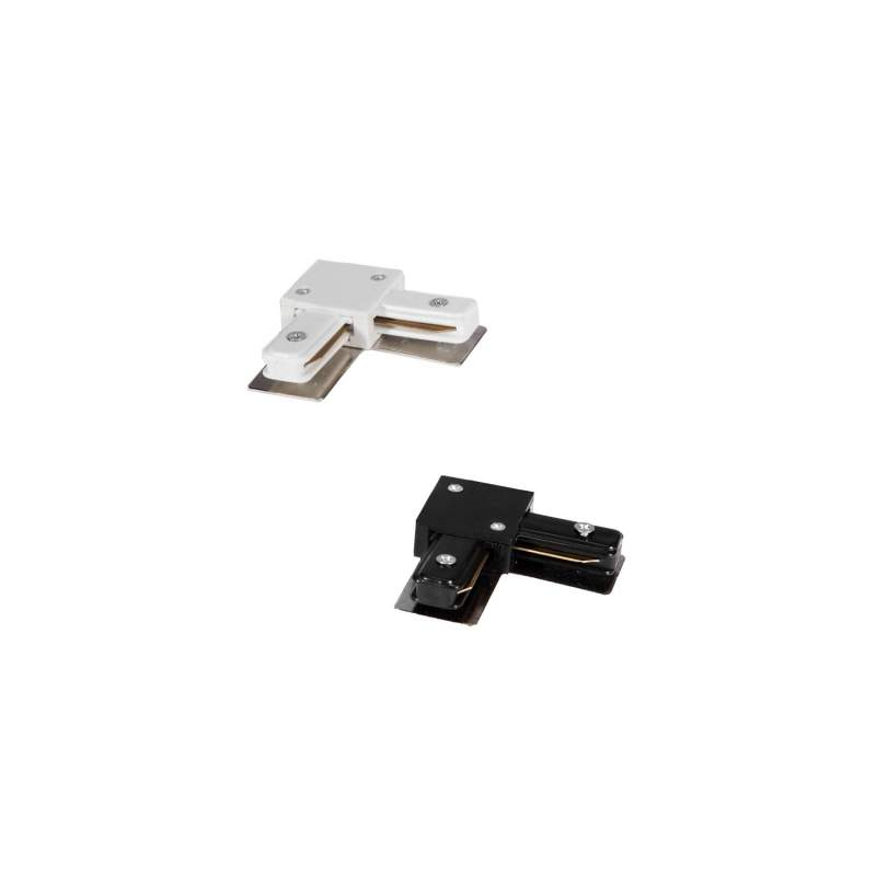 Conector LED tipo L carril monofásico
