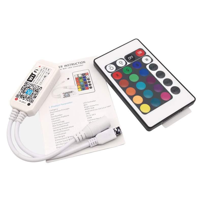 Controlador LED RGB Control WIFI 24 botones Tira LED 24V