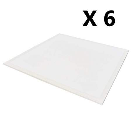 Pack 6 unid Panel led RETROILUMINADO 60x60 40w 4200lm