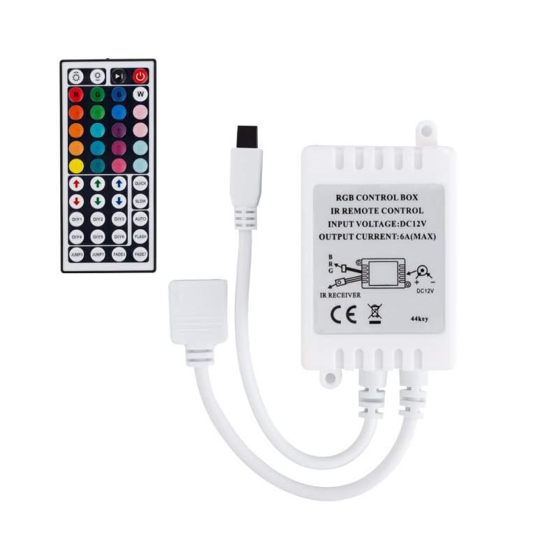 Controlador LED RGB Control Remoto IR 44 botones Tira LED 12V