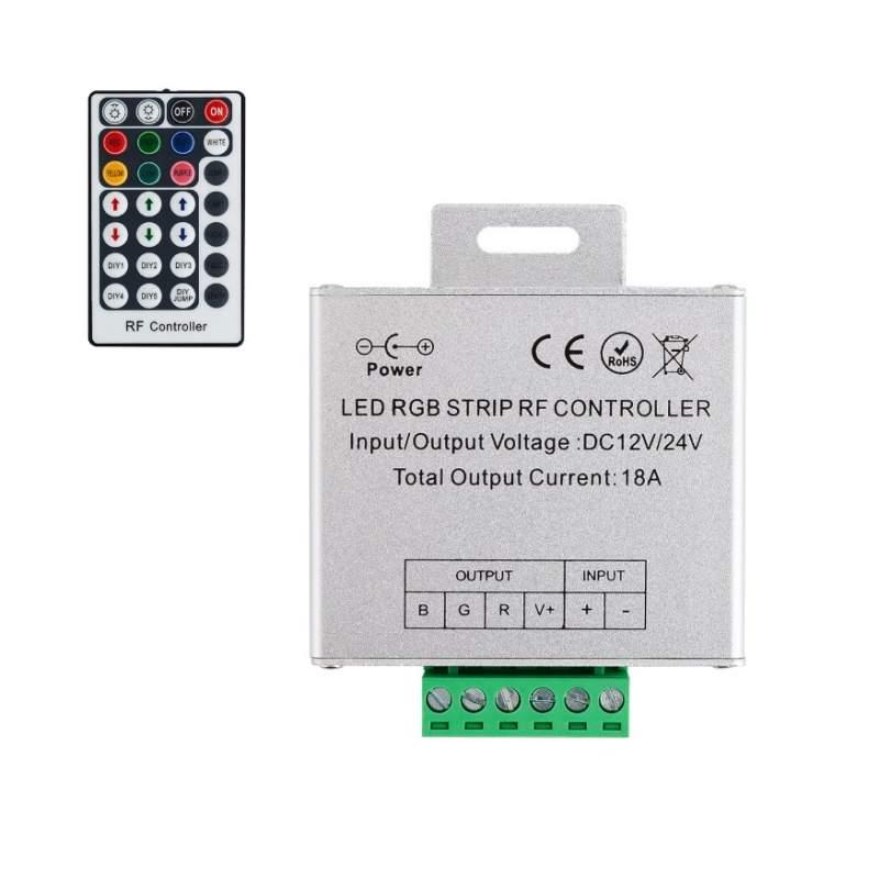 Controlador RGB Control Remoto RF 28 botones Tira LED 12/24V