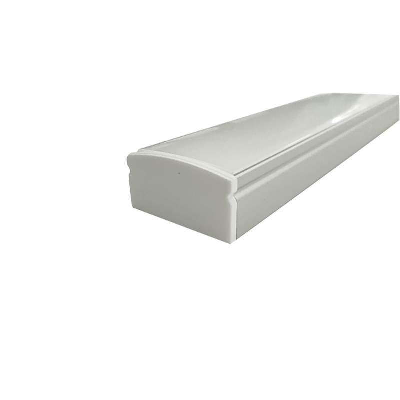 Perfil Superficie Aluminio Tira Led 2m