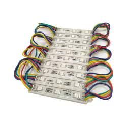 Cadena de 20 módulos 3 leds IP65 SMD 2835 RGB