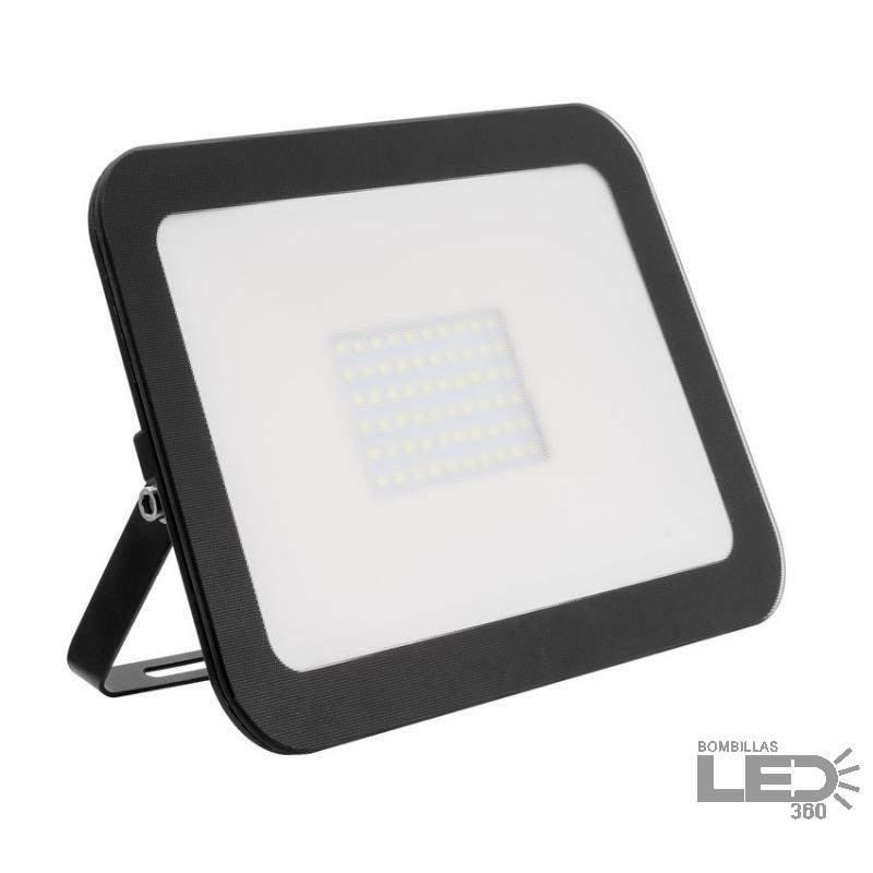 Foco LED Ultrafino Cristal 50W Negro
