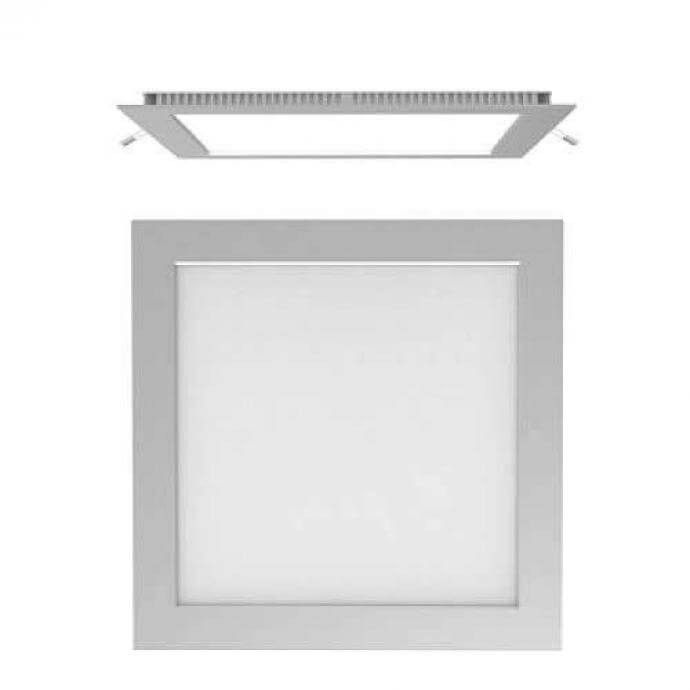 Downlight cuadrado plata